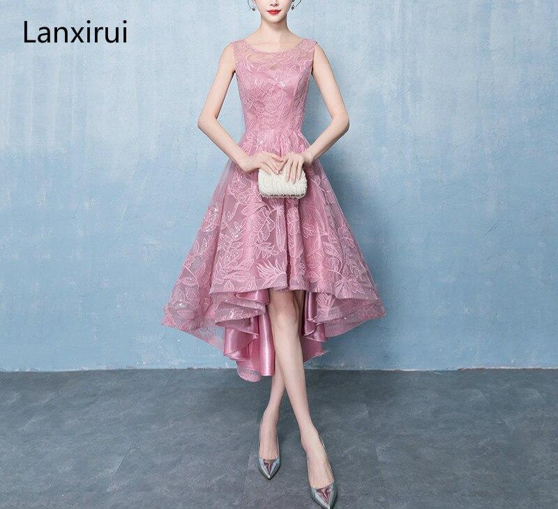 2019 nouveau corsage en maille élégante robe de soirée sans manches transparent dos Empire dentelle paillettes Maxi femmes robes formelles