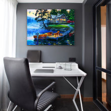 Landscape Canvas Painting Poster Print Impressionist Wall Art Pictures For Living Room Home Decor noframed(China)