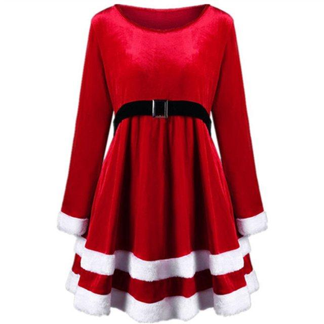 4ba45c5a8bff € 37.53 |Vestidos de las mujeres de Navidad Vintage Casual elegante verde  Aline moderada de bloque de Color de moda femenina Retro lindo invierno ...