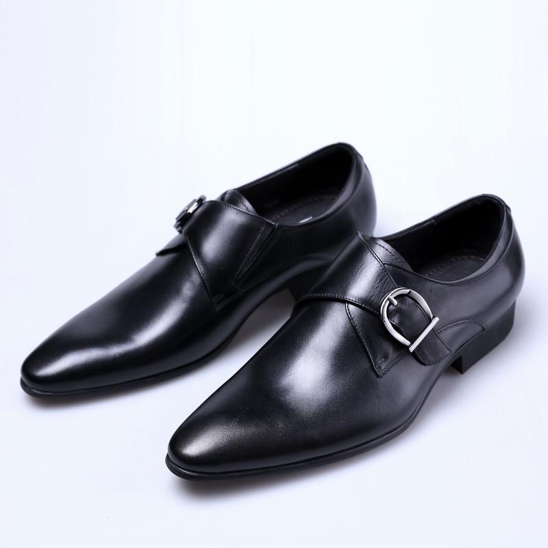 Chaussures Véritable brown En De Hommes brown Black brun Mariage Noir Travail Avec D'affaires Mode Robe Tan Homme Boucle brun Cuir wfX4BW8nq