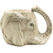 1 шт., кофейная кружка с изображениями животных, диких слонов, приключений, 3D, слон, керамическая чашка со слонами, Очаровательная Кружка для офиса