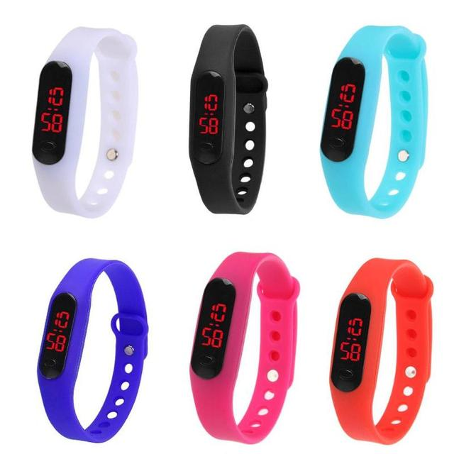 Fashion LED Display Plastic Electronic Digital Watch Unisex Bracelet Watch