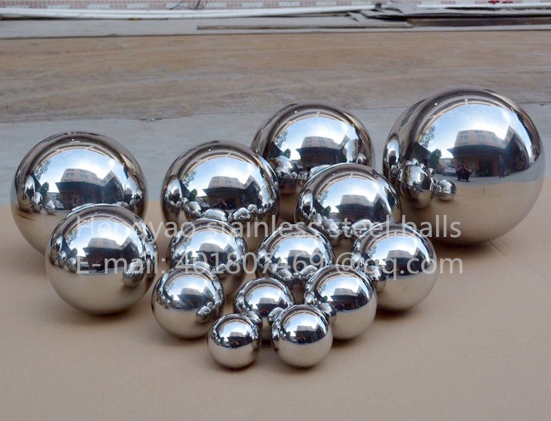 Silver Dia 180mm 18cm 304 Stainless Steel Hollow Ball Seamless Mirror Ball Family Courtyard Interior Decoration Ball Float