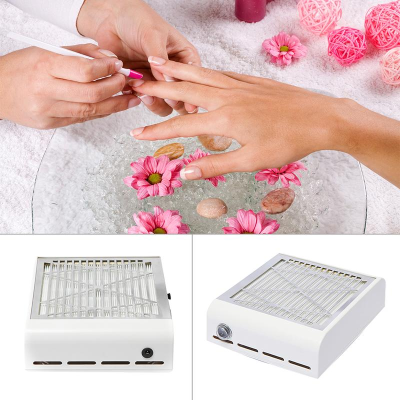 40W Nail Suction Dust Extractor Fan Collector Japanese Style New No spilling Filter Fan Strong Power