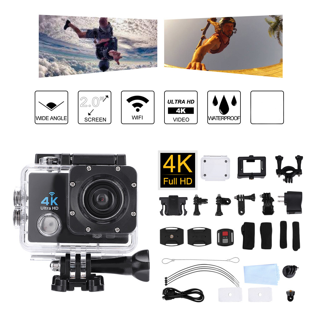 brand new 4K Outdoor Wifi Waterproof motion camera Ultra HD High Definition Sport Cameras DV with Controllerbrand new 4K Outdoor Wifi Waterproof motion camera Ultra HD High Definition Sport Cameras DV with Controller