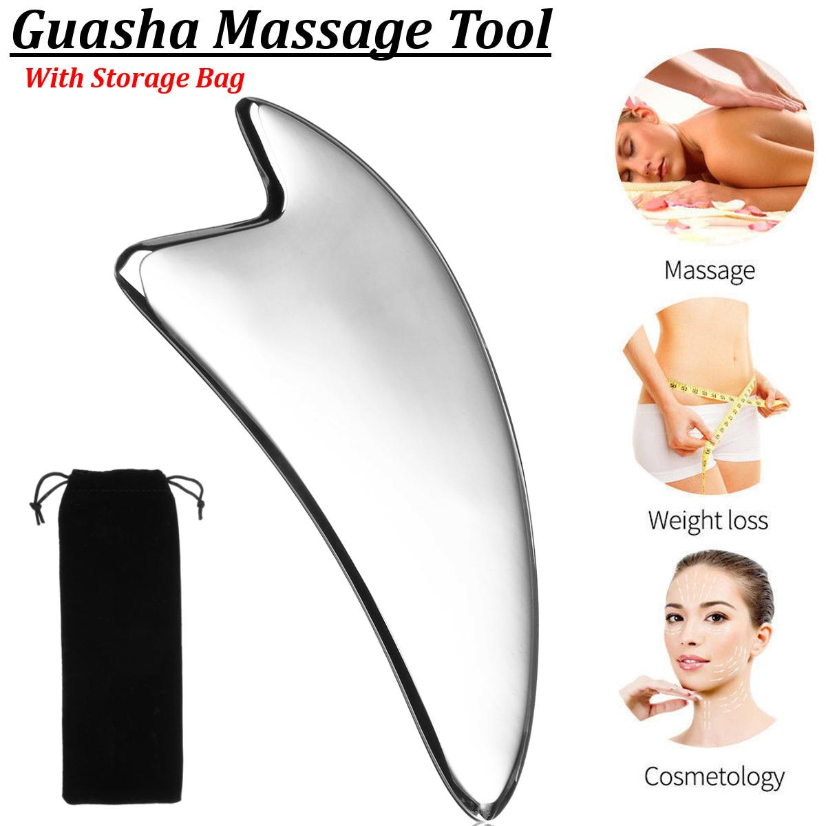 304 Stainless Steel Gua Sha Guasha Board Facial Neck Back Bo