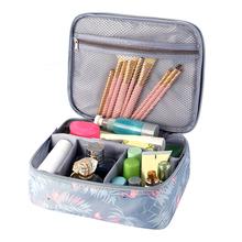Travel Girl makijaż pudełko kosmetyczne torby damskie wycieczka umyć kosmetyczka szminka Eyelash Brush etui Case Akcesoria materiały eksploatacyjne tanie tanio z Stenzhorn Poliester