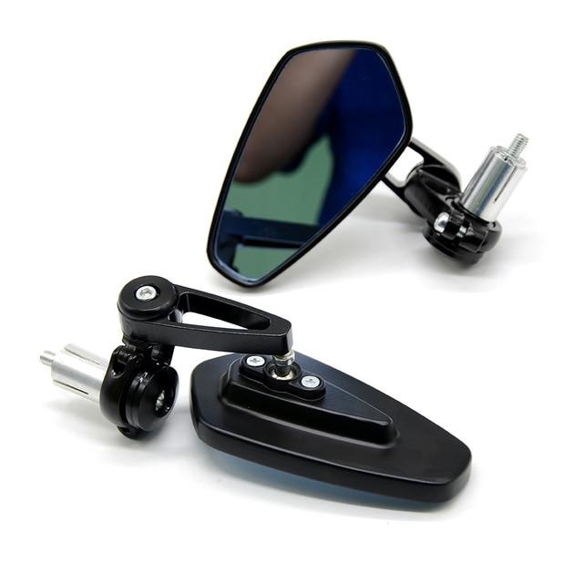 "Universal 22mm 7/8"" Motorcycle Bar End Rearview Mirrors For Kawasaki Yamaha Honda Suzuki BMW Ducati Aprilia Triumph Accessories"