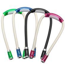 4 цвета регулируемый гибкий светодиодный ночной Светильник для шеи с громкой связью, вязаный крючком, книжный светильник, лампа для чтения, внутреннее освещение