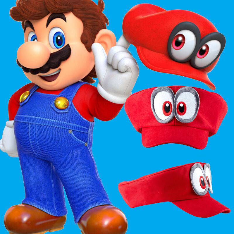 Anime Super Mario Odyssey Hat Cap Adult Kids Cosplay Baseball Costume Handmade