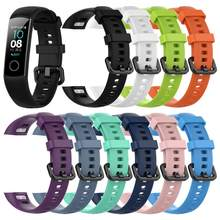 Watch Band Per huawei Honor Fascia 4 Intelligente Wristband Amole Cinturino In Silicone Per Il Fitness Tracker Orologio Intelligente Della Vigilanza Del Braccialetto Della Cinghia Per huawei(China)