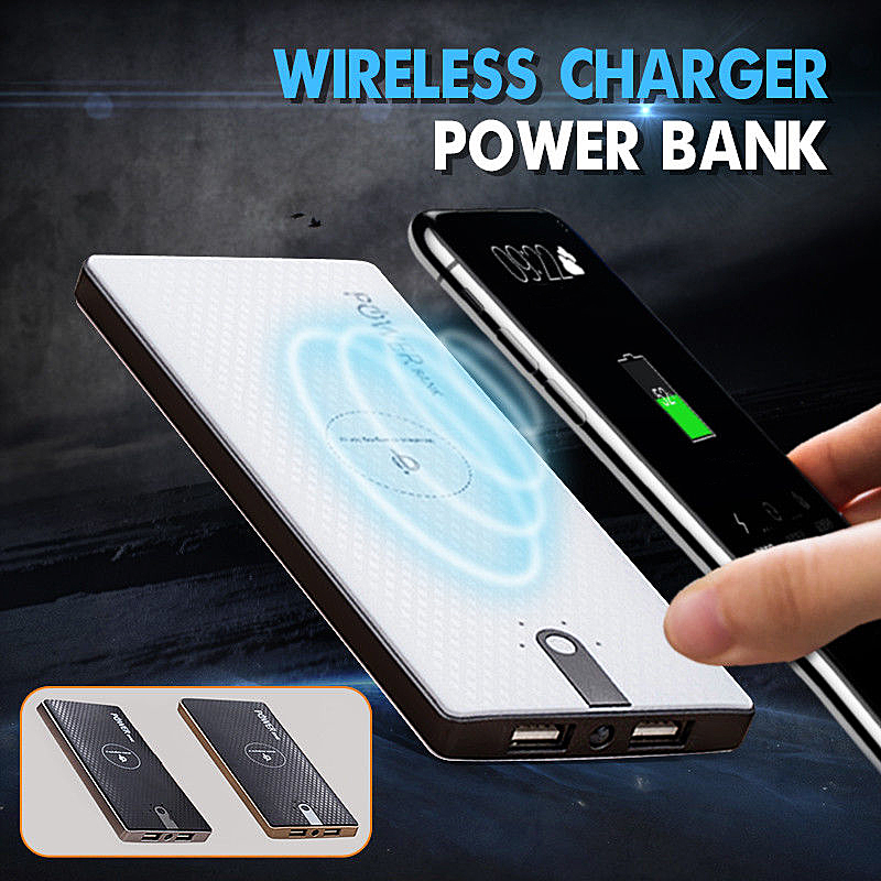 80000mAh Wireless Charger Power Bank for iPhone LED Display Qi Wireless Charger for Samsung 8000 10000