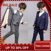 Детские блейзеры для мальчиков 3 шт костюм на свадьбу выпускной