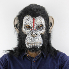 Scary Chimpanzee Mask Cosplay Costume Movie Rise Of The Planet Of The Apes Suit Halloween Costume Adult цены