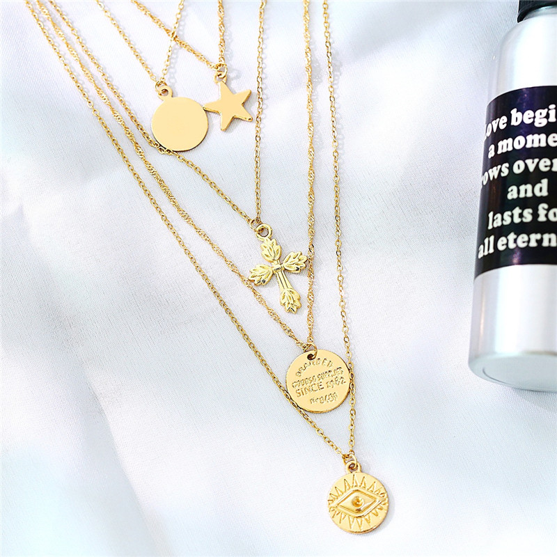 Boho Ster Ketting Fancy Mooie Ketting Gouden Ketting Choker Coin Ketting Vrouwen Accessoires Voor Party Decoratie Gift