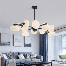 цены на Modern Glass Magic Bean Led Chandeliers Living Room Restaurant Pendant Lamps Designer Round Bedroom Light Fixtures Lighting  в интернет-магазинах