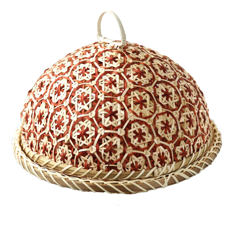 Handmade Bamboo Food Fruit Wicker Rattan Straw Basket