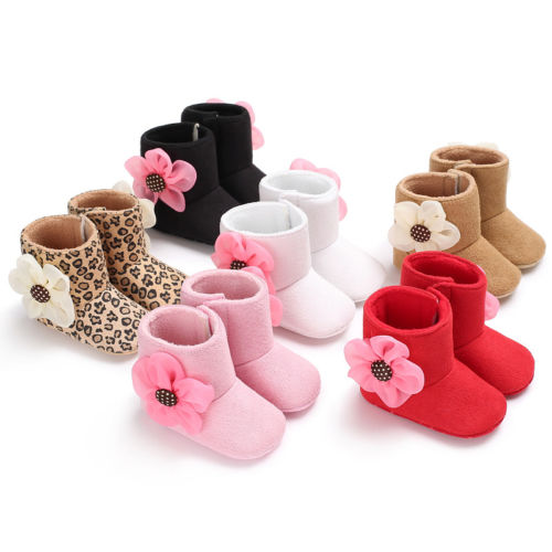 Pudcoco 0-18M Baby Girls Soft Sole Booties Snow Boots Infant Toddler Newborn Crib Shoes