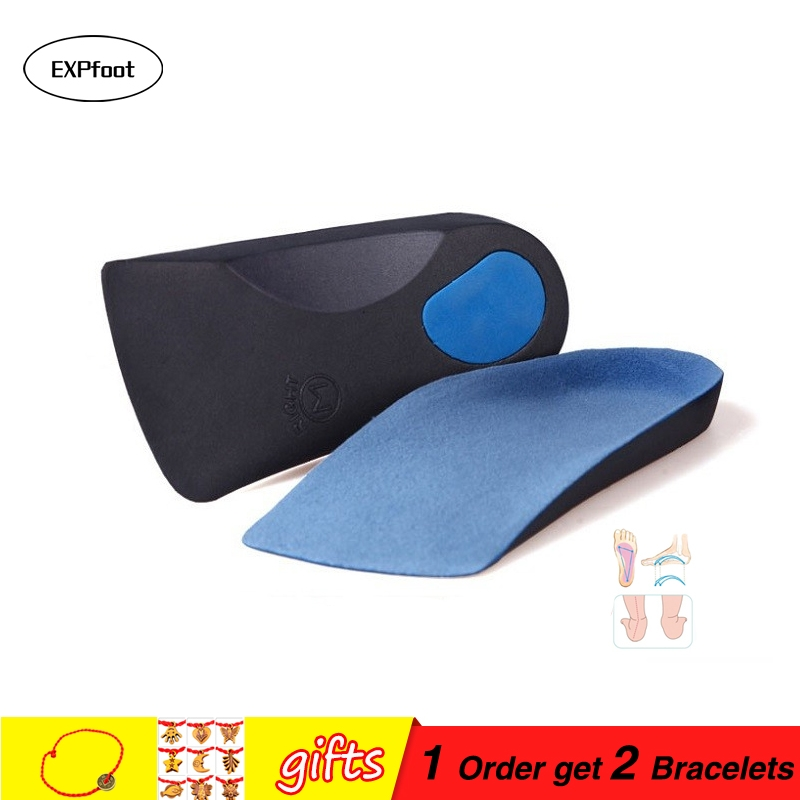 EXPfoot EVA Flat Foot Orthotics insoles Arch Support Half Shoe Pad Orthopedic Insoles Foot Care for Men and Women size 36 to48 size 41 46 eva flat foot orthotic insole arch support o x leg half shoe pad orthopedic insoles foot care for adult 021