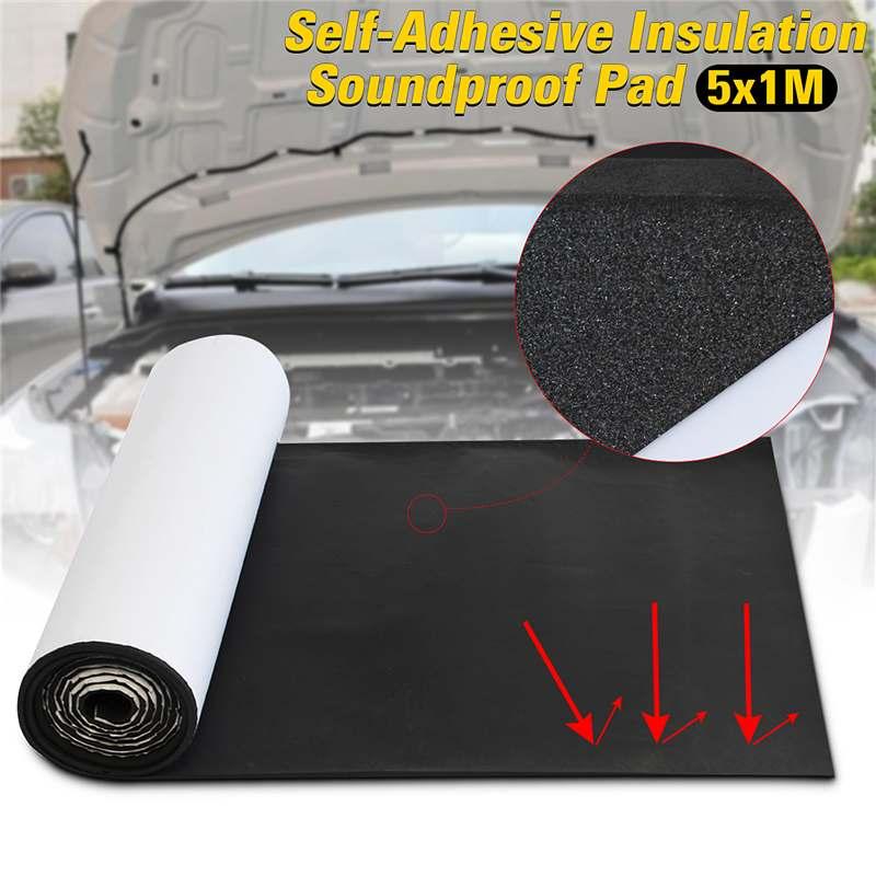 Tampon d'isolation acoustique Auto pare-feu insonorisé directement collé isolation acoustique pour la voiture 50 cm x 10 cm x 8mm