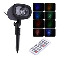 Dynamic starry RGB LED water pattern Laser Projector Showers New Year's decor Holiday Light Christmas Tree Decorations for Home