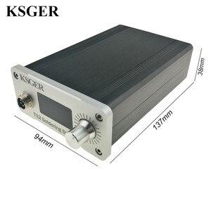 Image 3 - KSGER הלחמה תחנת DIY ערכת STM32 2.1S OLED 1.3 תצוגת טמפרטורת בקר דיגיטלי אלקטרוני ריתוך ברזל T12 ברזל טיפים