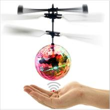 USB Charging Luminous Light-up Toys Glowing LED Magic Flying Ball Sensing Crystal Flying Ball Helicopter Induction Aircraft Toy
