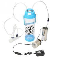 3L Portable Vacuum Pump Milking Machine Spares For Goat Cows Electric Impulse Controller Type Milking Machine Fresh Milk US Plug