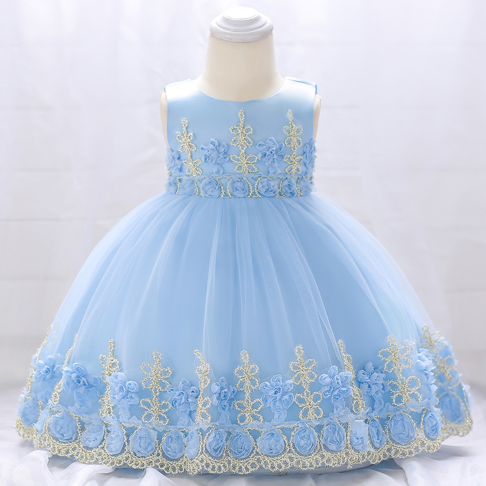 Baby girl dress 3 months to 2 years old birthday party princess dress vestidos baby first birthday party christmas baby dresses