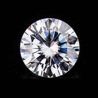 Блестящий Алмазный Муассанит D Цвет 8,5 мм 2.5ct желтоватого сертификата Charles Colvard для колец сережек браслетов