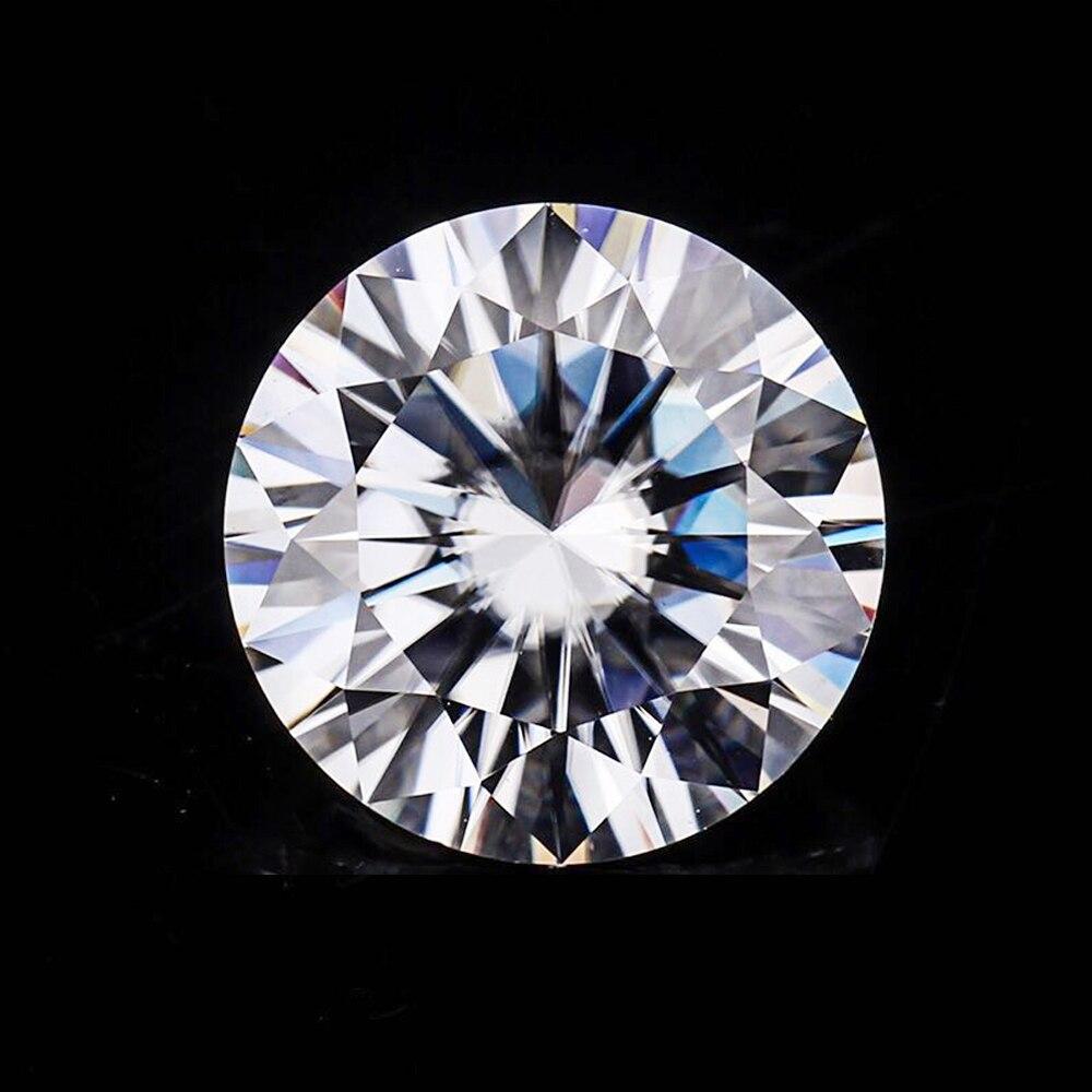 Diamant taille brillant moissanite D couleur 8.5mm 2.5ct de certificat jaunâtre charles colvard pour bracelet boucle d'oreille anneau