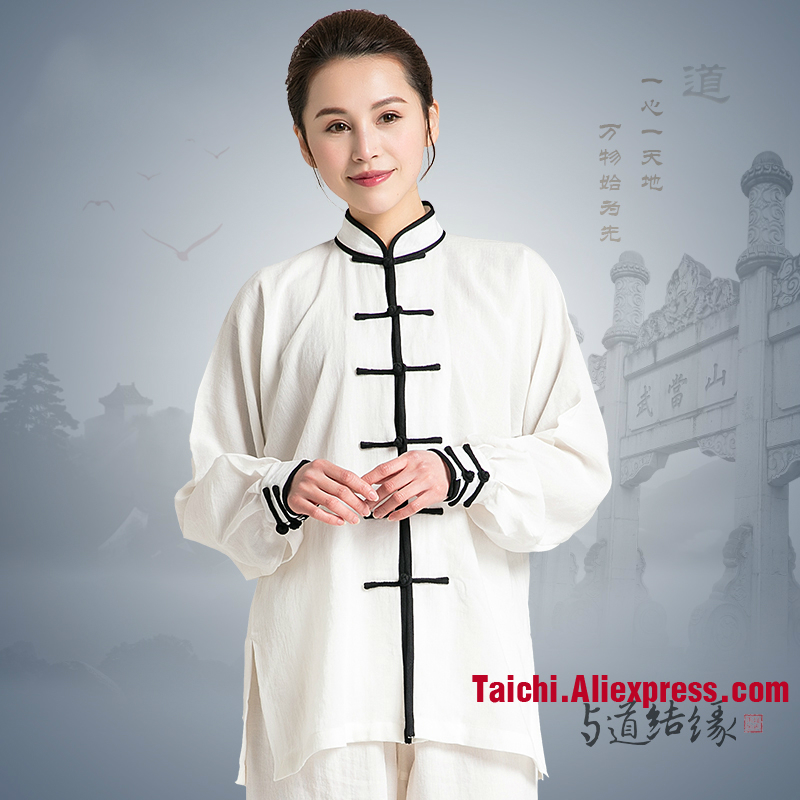 Tai Chi Uniform Linen Fabric Unisex Tai Chi Suits Flax Traditional Tai Chi Clothing For Your Tai Chi Exercise 4 Colors