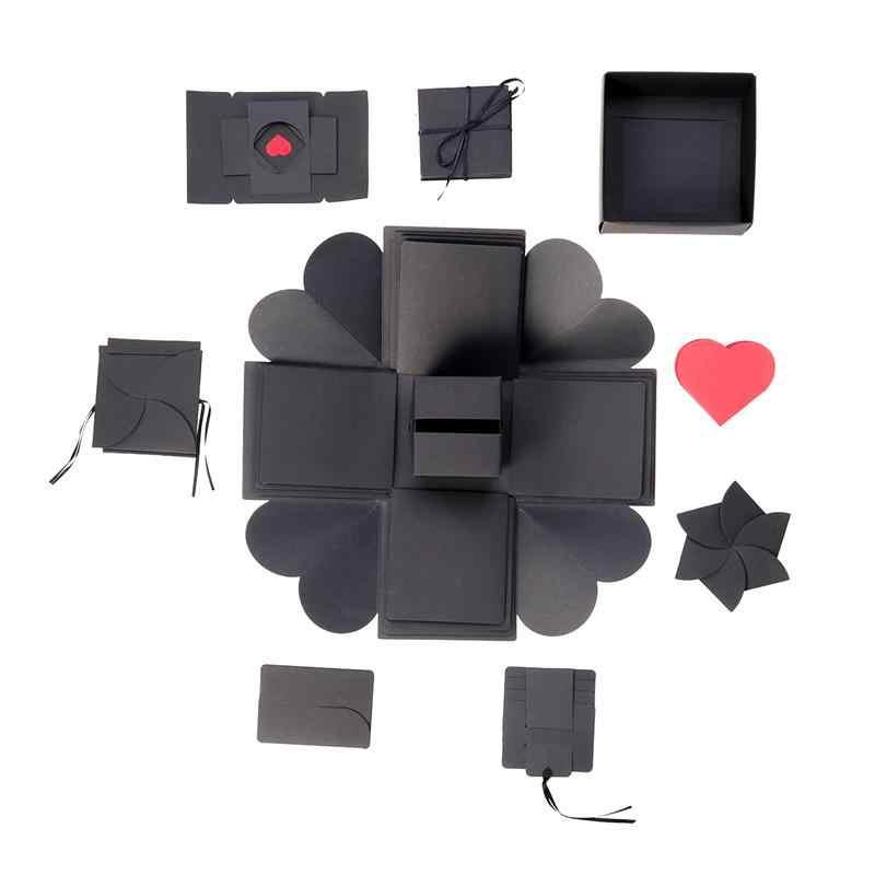 Creative Surprise Explosion Box Diy Photo Album Handmade Scrapbook Folding Photo Album Gift For Wedding Mother S Day Birthday Photo Albums Aliexpress