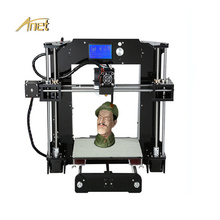 Low Price 3D Printer Anet A8/A6 Fast Speed Desktop 3D Printer Metal 0.4 MM Nozzle Prusa i3 Large Printing Size Machine For Sale new technology a4 format eco solvent printer with price metal plate printing machine