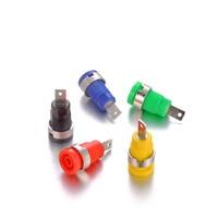 100pcs/set Good Quality Red Green Blue Yellow Black Binding Post Banana Jack Socket Panel Mount for Safety Protection Plug