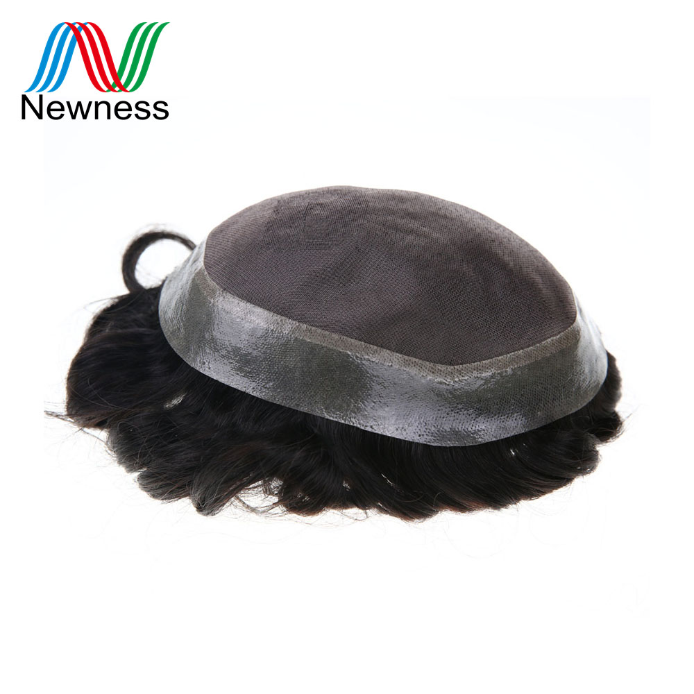 Ambitious Newness Hair Durable Fine Mono Base Men Toupee Man Hairpieces Clear Poly Around 100% Indian Remy Human Hair Males Wig Sale Price