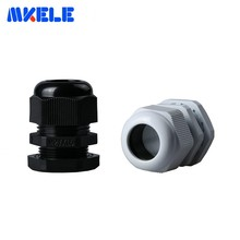 10pcs M27x1.5 Waterproof Cable Gland Black White IP68 Plastic Connector Nylon Cable Glands Screw Joints For 13-18mm Cable m40 1 5 ip68 waterproof nylon plastic cable gland white connector suitable for 22mm to 32mm cable wire 4pcs pack