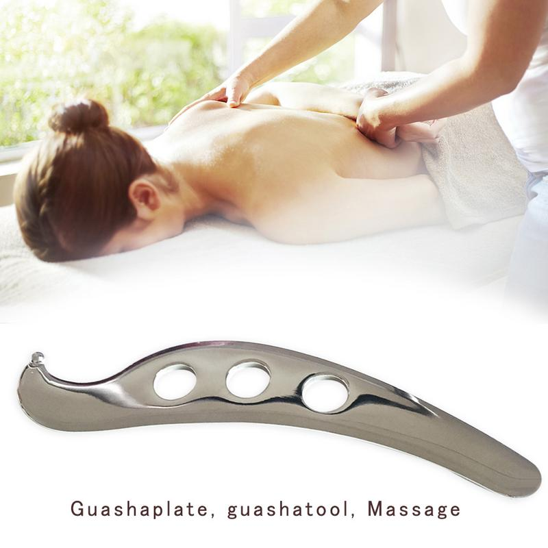 Stainless Steel Gua Sha Guasha Plate Massager Tool Scraper Physical Therapy Loose Muscle Meridian Massage Machine SPA Board ToolStainless Steel Gua Sha Guasha Plate Massager Tool Scraper Physical Therapy Loose Muscle Meridian Massage Machine SPA Board Tool