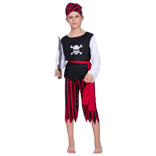 Pirate Costume Boys Cosplay Halloween For Kids Carnival Purim Party Suit