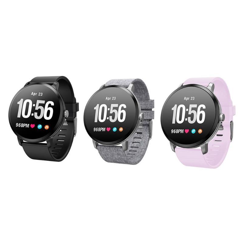 696 V11 montre intelligente IP67 étanche verre trempé activité Fitness tracker moniteur de fréquence cardiaque bord hommes femmes smartwatch