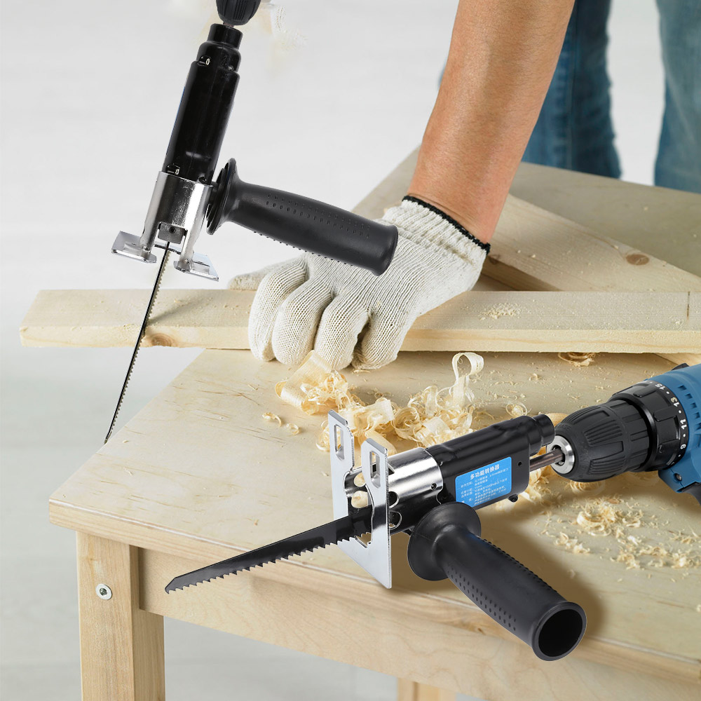 Multifunction Reciprocating Saw Attachment Change Electric Drill for Wood Metal Cutting Multifunctional Power ToolsMultifunction Reciprocating Saw Attachment Change Electric Drill for Wood Metal Cutting Multifunctional Power Tools