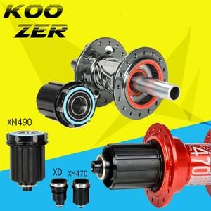 Koozer Hub XM490 XM470 XM460 Caps MTB Bicycle Hubs Converters Mountain Bike Hubs End Cap Adapter QR Or THRU Cap Adaptor XD(China)