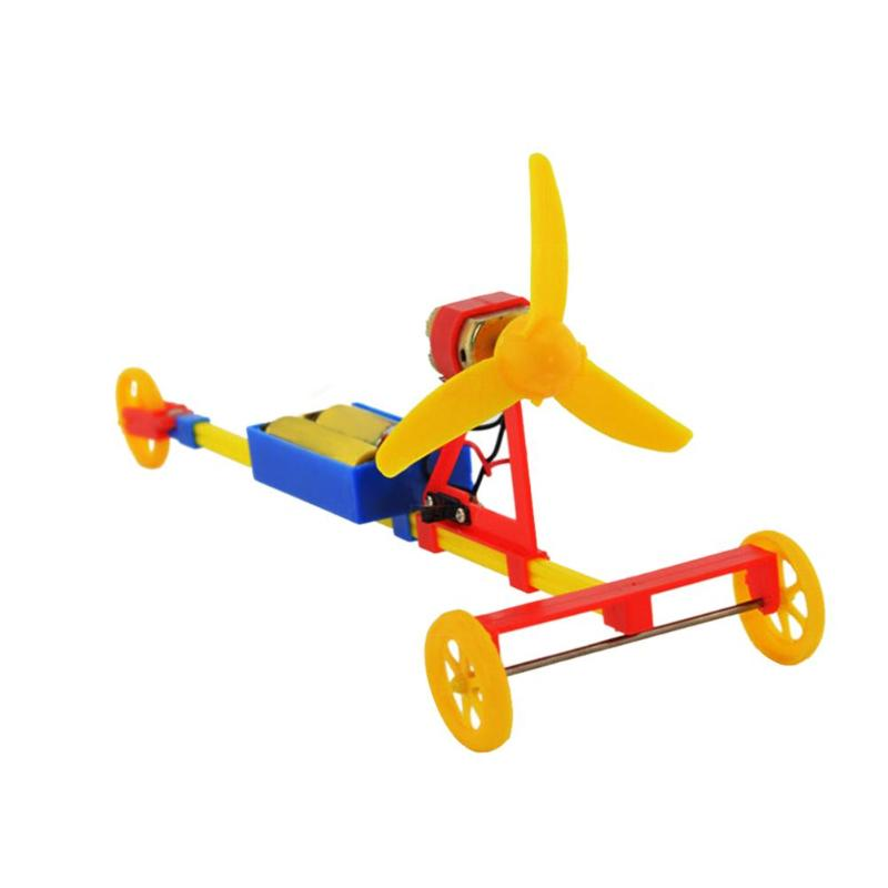DIY Assembled Power Car F1 Air Paddle Electric Racing Car Model Material Kits Boy Toys Creative Children Education Toys