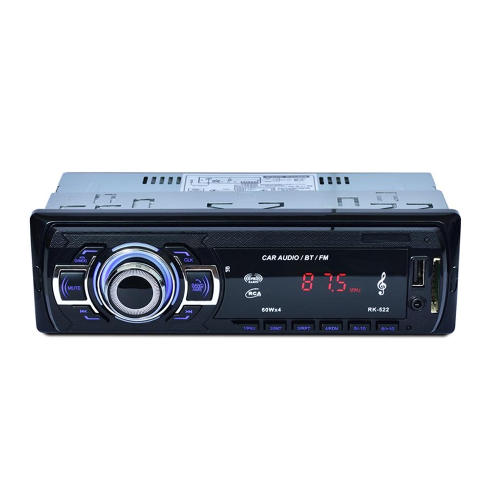 FM Radio Auto Electronics Audio Remote Control In Dash Car MP3 Player File Function USB Ports Handsfree Calls Stereo Bluetooth