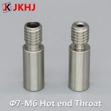 3D Printer Parts 2 in 1 out hot end 7mm Stainless Steel throat Straight Through Version/High Temperature Version 1.75mm filament