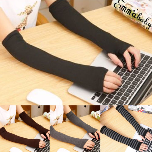 Brand New Women Cute Arm Warmer Protection Long Fingerless Stretchy Mittens Fashion Ladies Spring Autumn  Arm Warmers