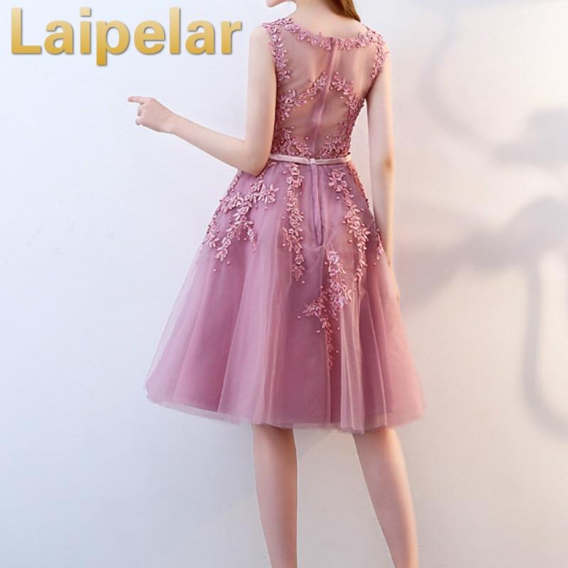 Laipelar 2019 패션 tulle 레이스 이브닝 미디 드레스 우아한 공식적인 가운 웨딩 저녁 파티 드레스 여성 vestido de festa-에서드레스부터 여성 의류 의  그룹 2