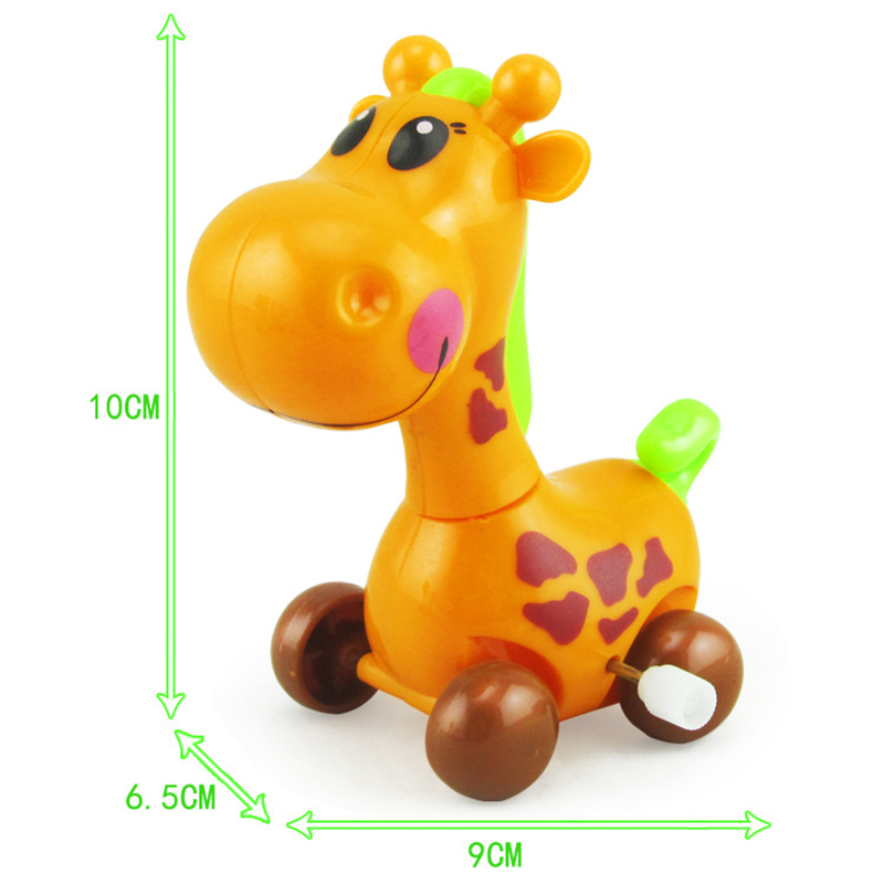 New Baby Animal Giraffe Dee Education Toy Clockwork Wind Up Funny Toys Best Gift