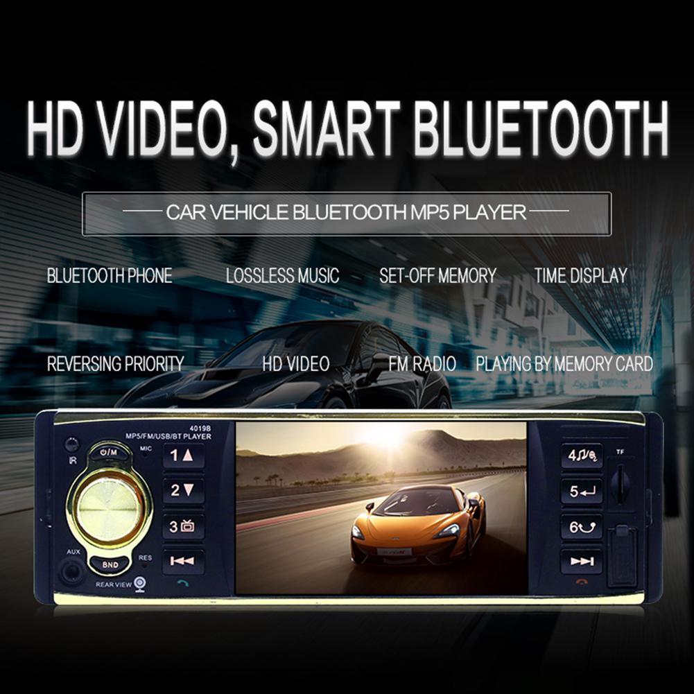 4.1 pouces autoradio MP5 Player 1Din HD 800*480 Bluetooth FM/AUX/USB/TF commande au volant Support caméra de vue arrière r20