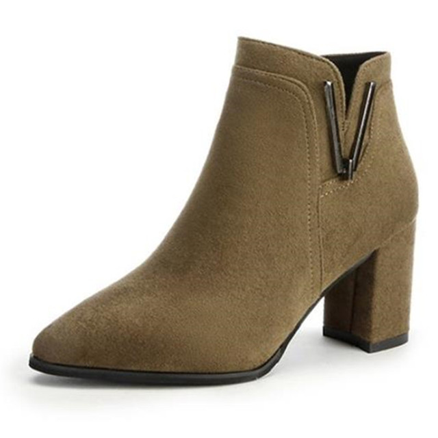 2019 winter new fashion wild pointed Zip Flock booties ladies casual Shallow comfort cotton warm boots women boots mujer c56